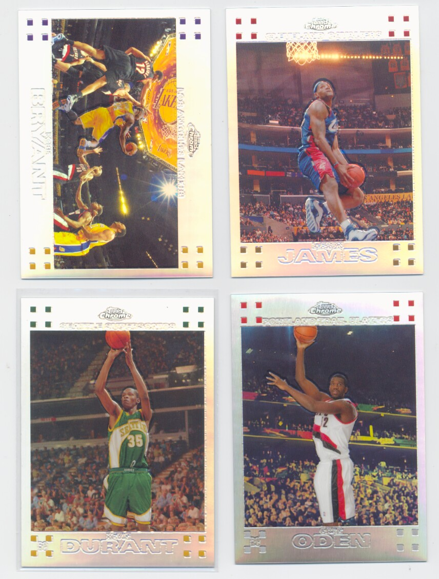 2007-08 Topps Chrome Basketball Refractor Set 1-160