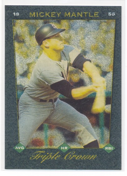 1993 Select Triple Crown #1 Mickey Mantle
