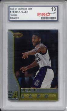1996-97 Bowman's Best #R5 Ray Allen RC Graded Gem Mint 10