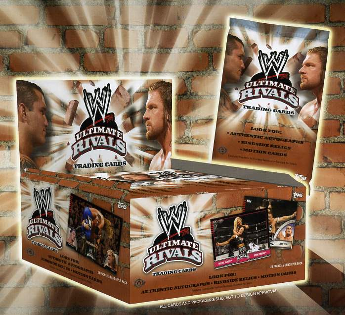 2008 Topps WWE Ultimate Rivals Wrestling Hobby Box (1 Autograph or Memorabilia Card Per Box) (Incl a pack of 100 card sleeves)