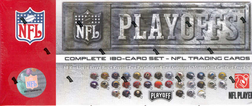 2007 Playoff NFL Playoffs Football Sports Trading Cards Boxed Tin Set