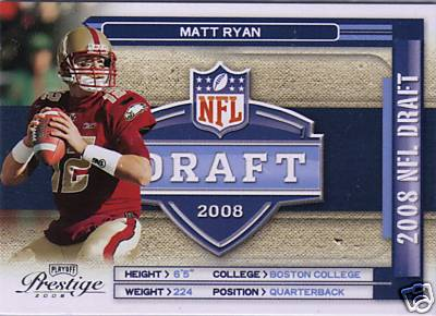 2008 Playoff Prestige NFL Draft #2 Matt Ryan