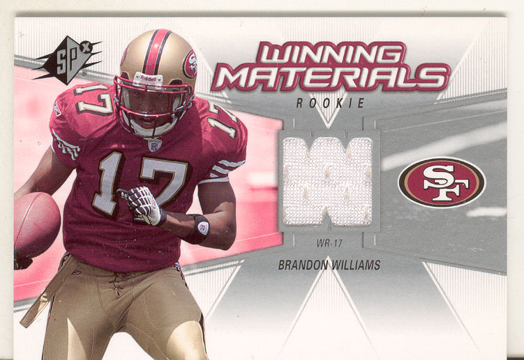 2006 SPx Rookie Winning Materials #WMRBW Brandon Williams