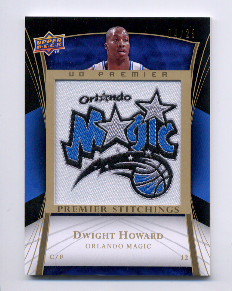 2007-08 Upper Deck Premier Stitchings Patches Gold #PSDH Dwight Howard