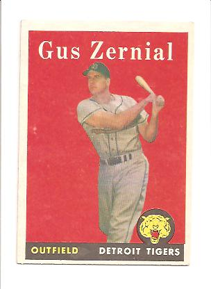 1958 Topps #112 Gus Zernial