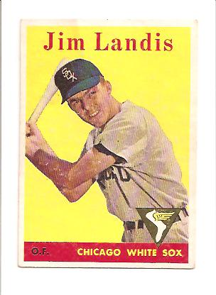 1958 Topps #108B Jim Landis YT
