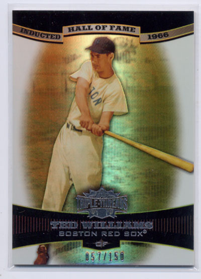 2006 Topps Triple Threads Sepia #42 Ted Williams HOF