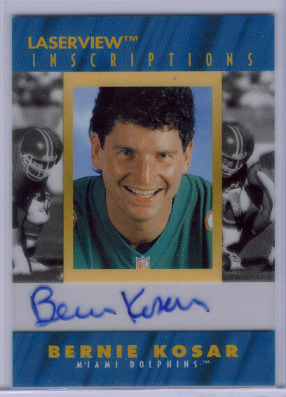 1996 Laser View Inscriptions #15 Bernie Kosar/3200 front image