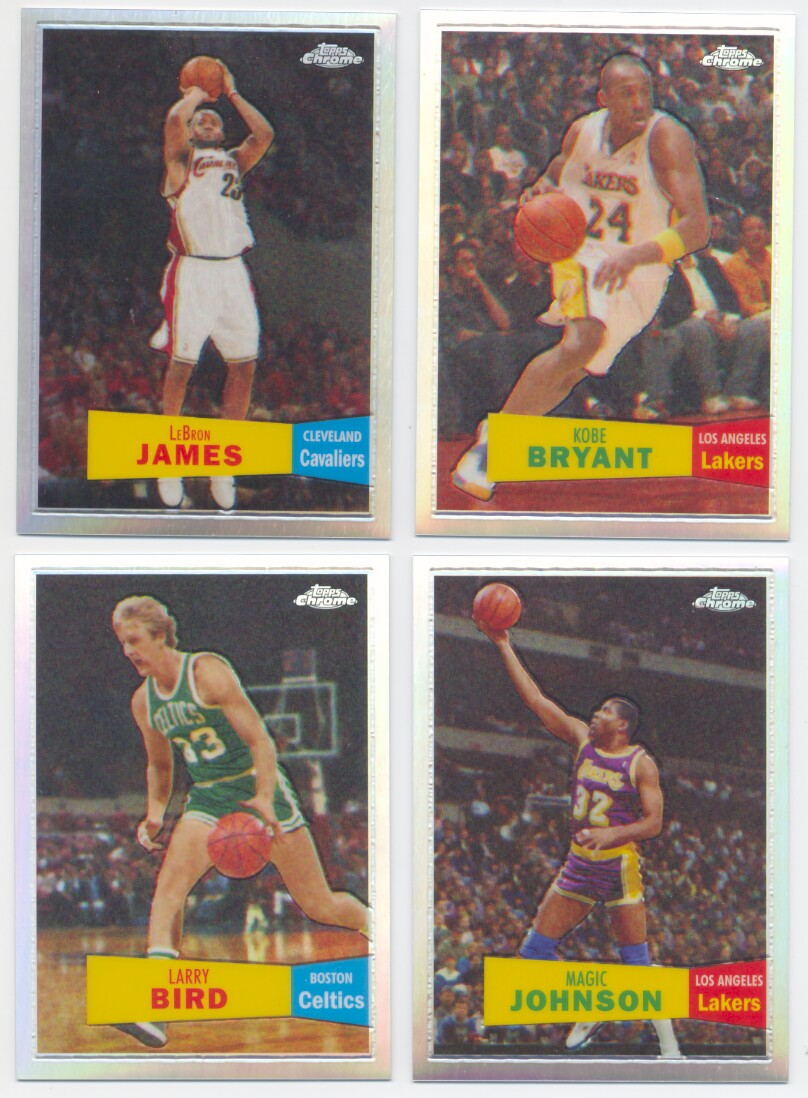 2007-08 Topps Chrome '57-'58 Variation Basketball REFRACTOR Set - 50 cards
