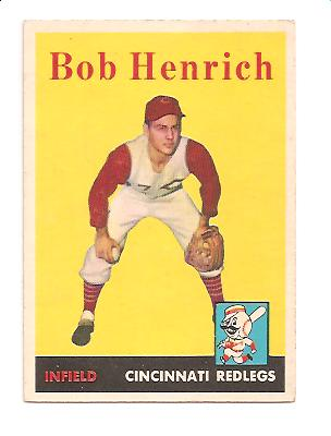1958 Topps #131 Bob Henrich RC