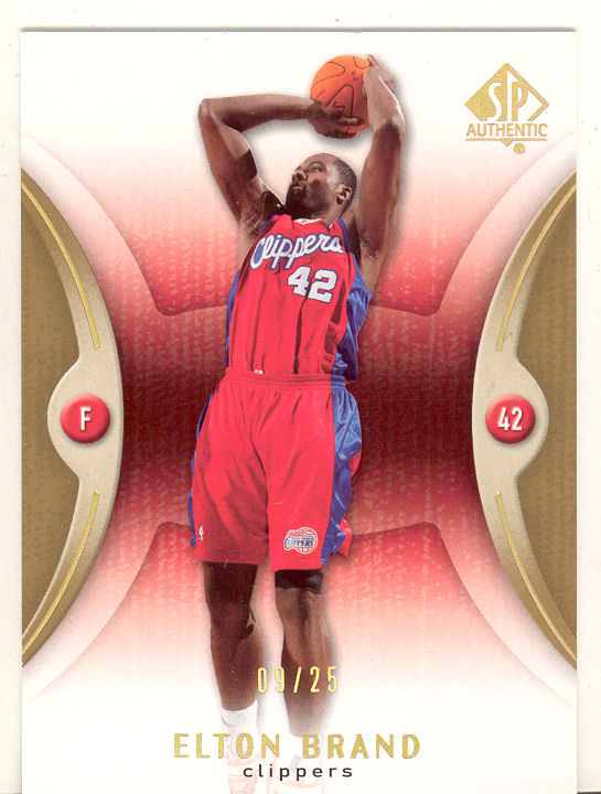 2006-07 SP Authentic Gold #34 Elton Brand