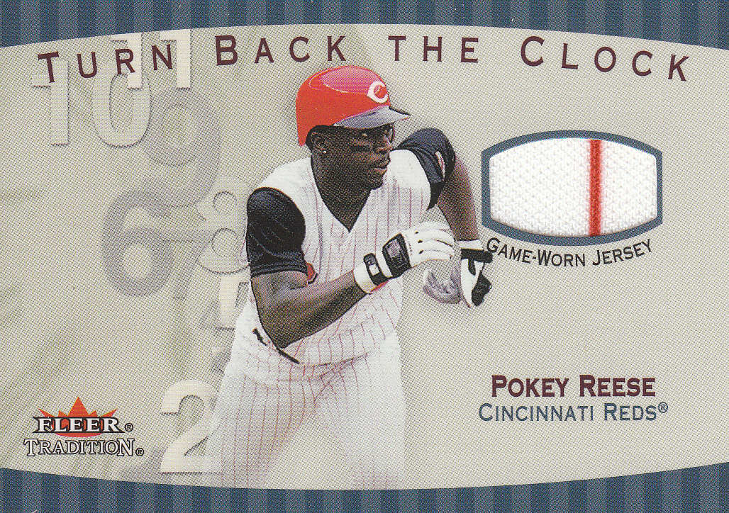 2001 Fleer Tradition Turn Back the Clock Game Jersey #TBC4 Pokey Reese