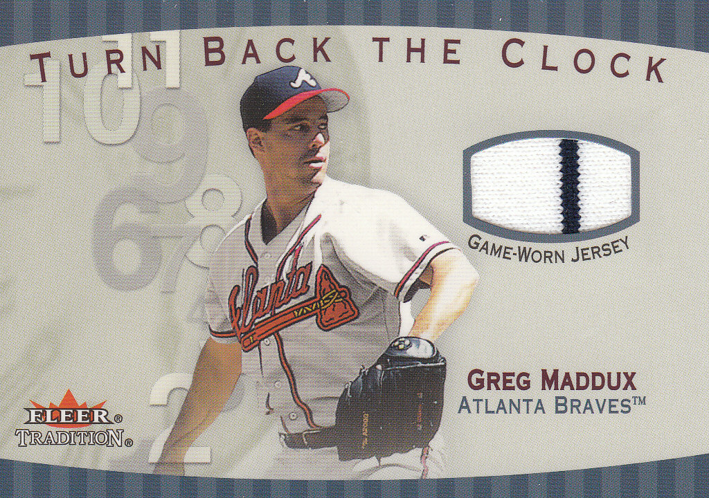 2001 Fleer Tradition Turn Back the Clock Game Jersey #TBC12 Greg Maddux front image