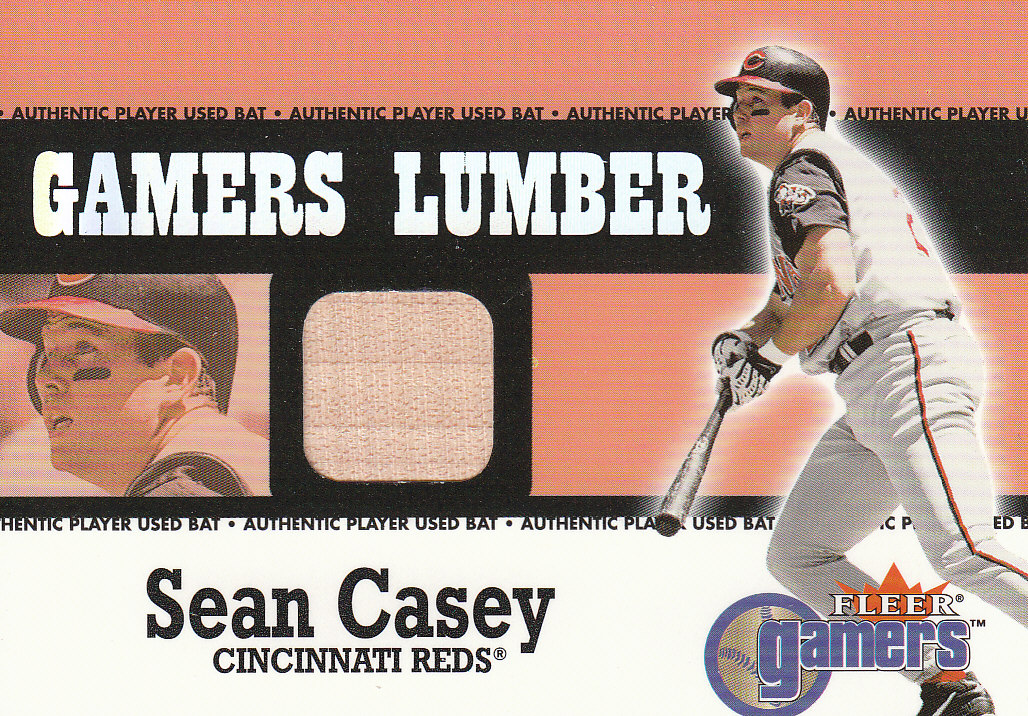 2000 Fleer Gamers Lumber #10 Sean Casey