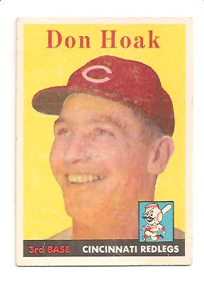 1958 Topps #160 Don Hoak
