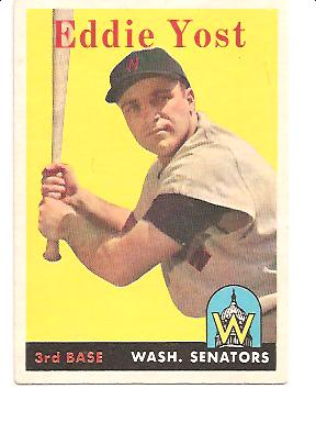 1958 Topps #173 Eddie Yost