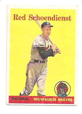 1958 Topps #190 Red Schoendienst
