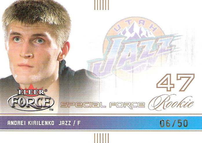 2001-02 Fleer Force Special Forces #124 Andrei Kirilenko