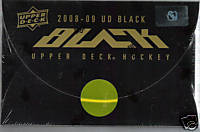 2008 - 09 ( 2009 ) Upper Deck UD Black Hockey Factory Sealed Hobby Box - 2 Rookie Letterman Patches + 2 Multi Swatch Memorabilia Or Autographs Per Box - Poss. Sidney Crosby Wayne Gretzky - In Stock