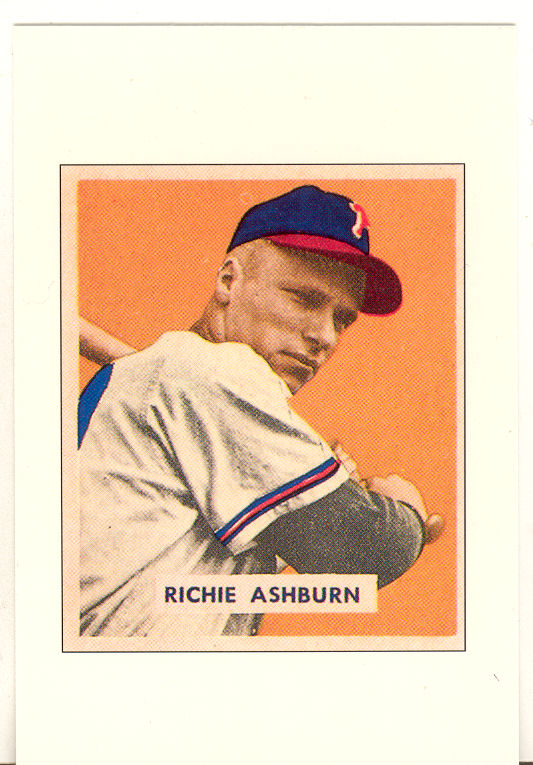 1989 Bowman Reprint Inserts Tiffany #1 Richie Ashburn '49