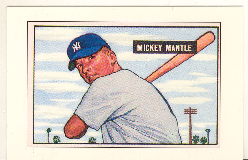 1989 Bowman Reprint Inserts Tiffany #5 Mickey Mantle '51