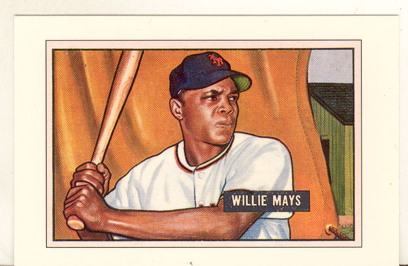 1989 Bowman Reprint Inserts Tiffany #7 Willie Mays '51