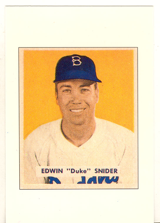 1989 Bowman Reprint Inserts Tiffany #10 Duke Snider '49