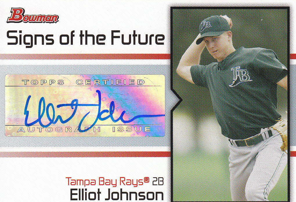 2008 Bowman Signs of the Future #EJ Elliot Johnson