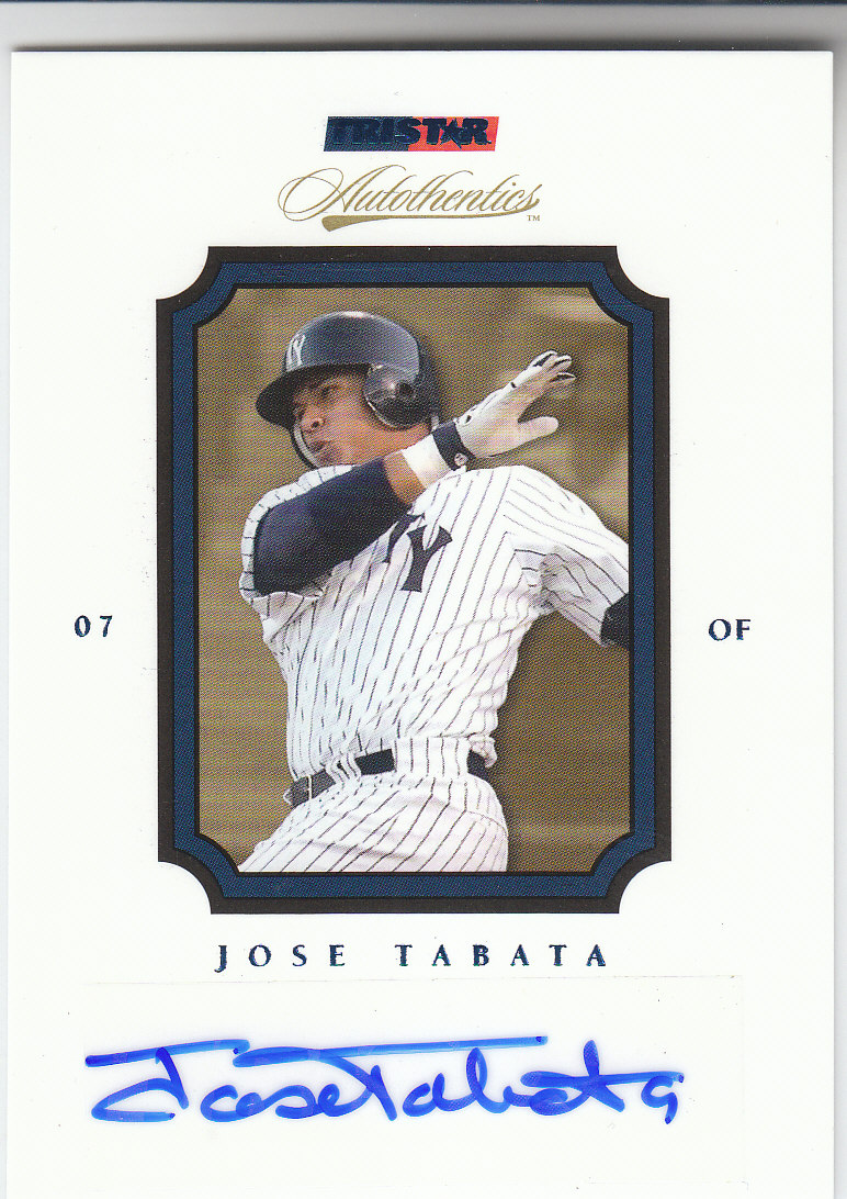 2007 TRISTAR Autothentics Autographs Blue #36 Jose Tabata front image