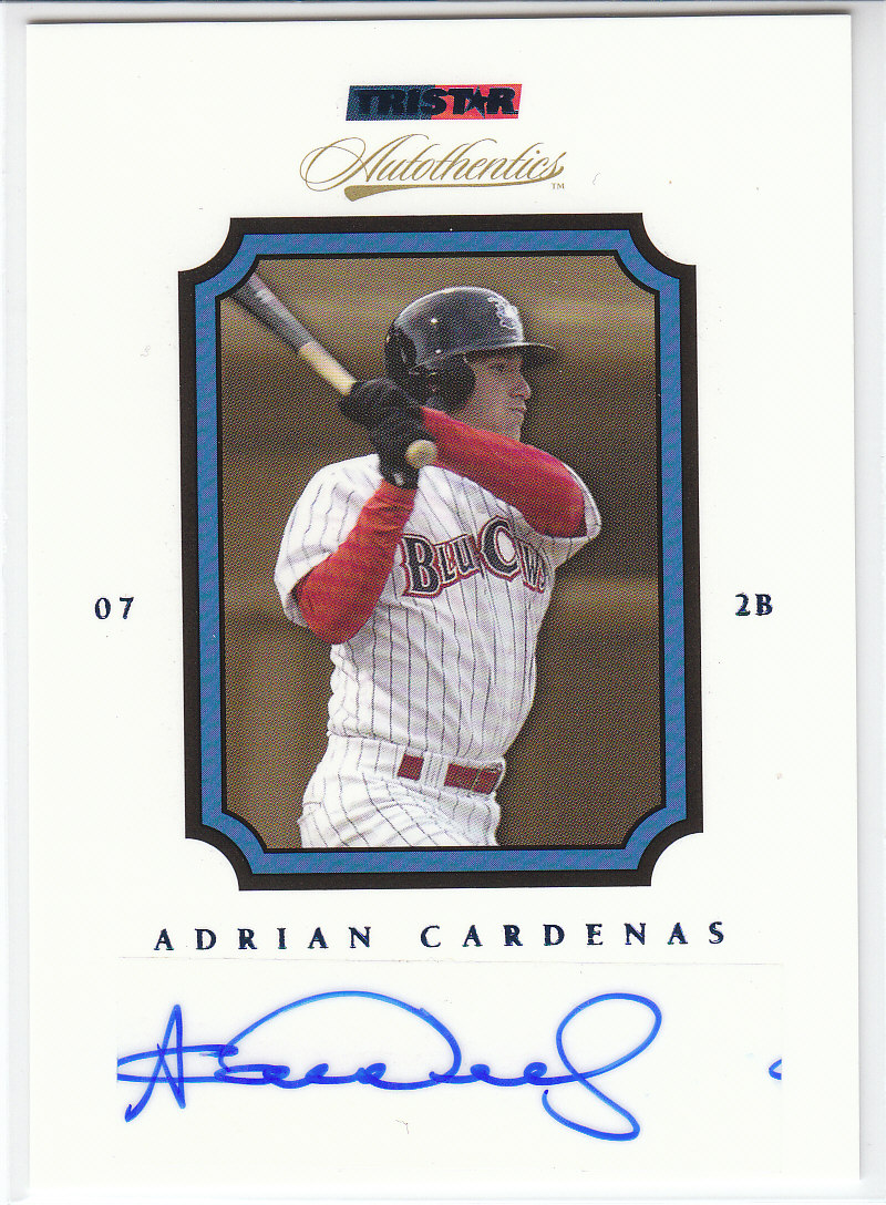 2007 TRISTAR Autothentics Autographs Blue #33 Adrian Cardenas