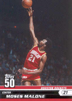 2007-08 Topps 50th Anniversary #4 Moses Malone