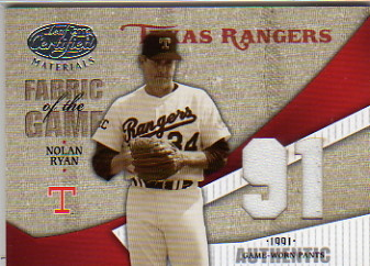 2004 Leaf Certified Materials Fabric of the Game Jersey Year #86 Nolan Ryan Rgr Pants/91