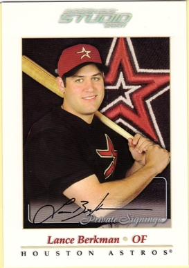 2001 Studio Private Signings 5 x 7 #5 Lance Berkman