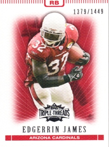 2007 Topps Triple Threads #42 Edgerrin James