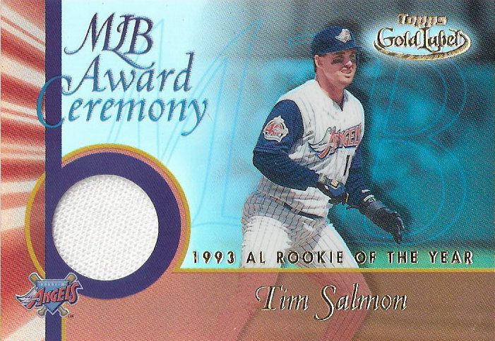 2001 Topps Gold Label MLB Award Ceremony Relics #TS Tim Salmon ROY Jsy