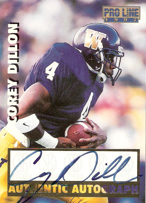 1997 Pro Line Autographs #18 Corey Dillon