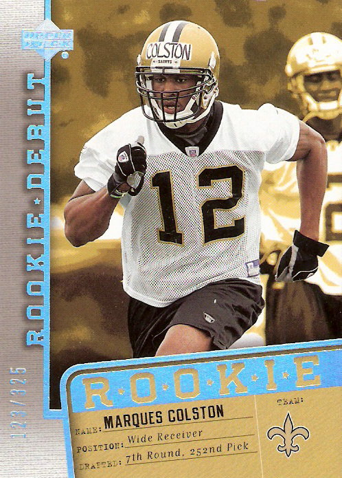 2006 Upper Deck Rookie Debut Holofoil #162 Marques Colston