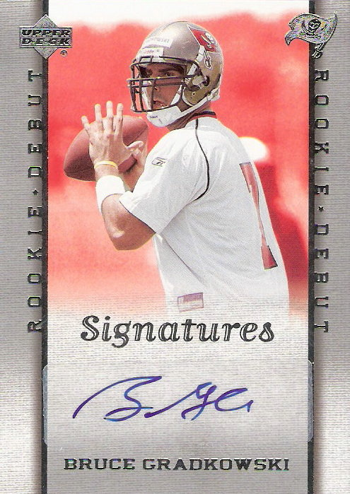 2006 Upper Deck Rookie Debut #210 Bruce Gradkowski AU RC