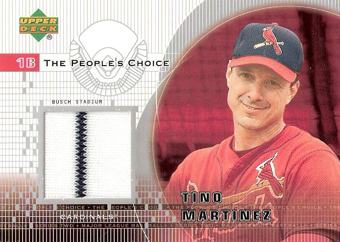 2002 Upper Deck Peoples Choice Game Jersey #PJTM Tino Martinez