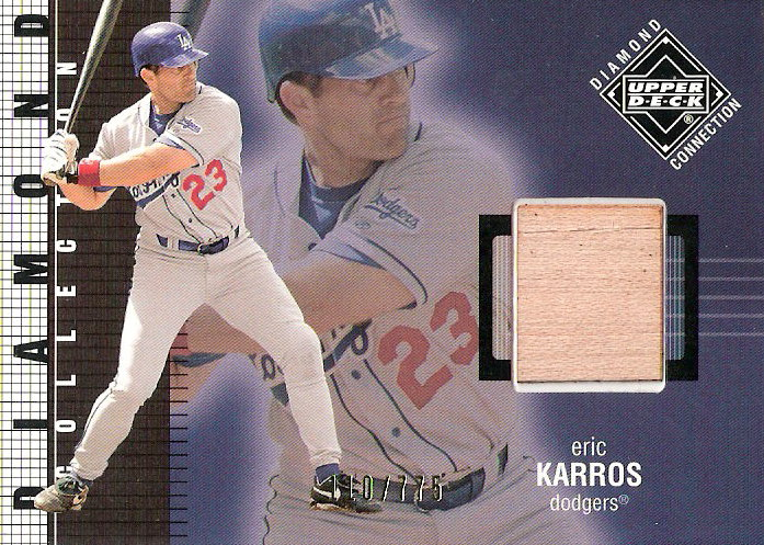 2002 Upper Deck Diamond Connection #379 Eric Karros DC Bat