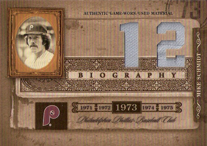 2005 Biography Mike Schmidt HR Materials #12 Mike Schmidt Jsy-Jsy