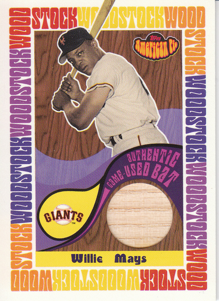 2001 Topps American Pie Woodstock Relics #BBWMWM Willie Mays Bat