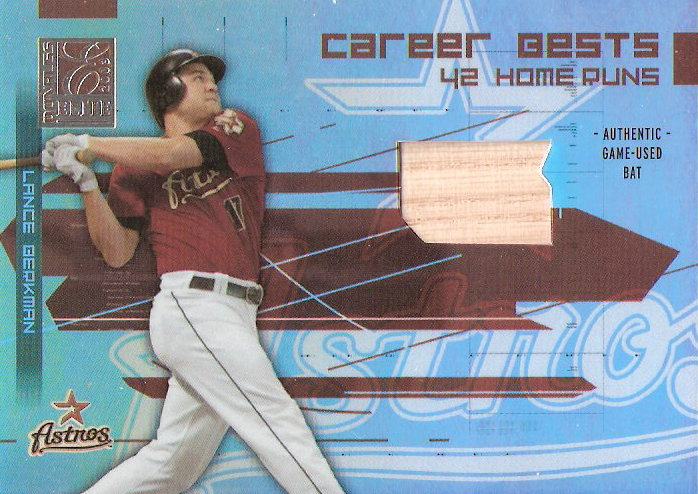 2003 Donruss Elite Career Bests Materials #10 Lance Berkman HR Bat