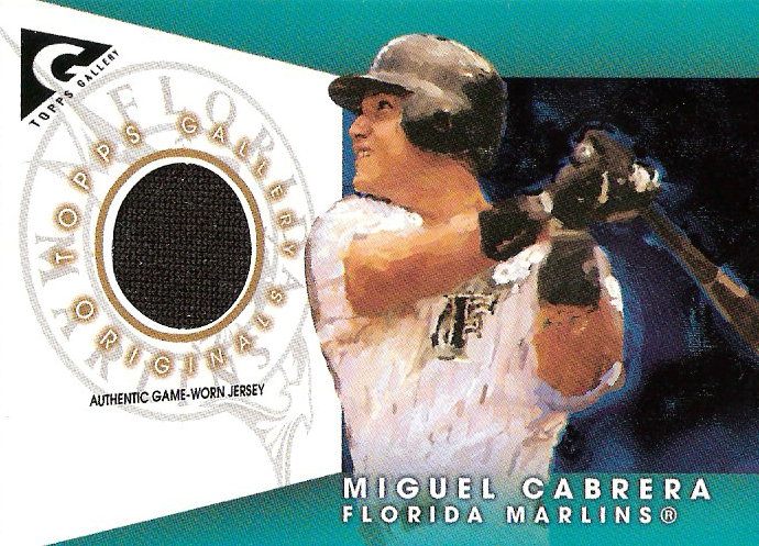 2005 Topps Gallery Originals Relics #MC Miguel Cabrera Jsy