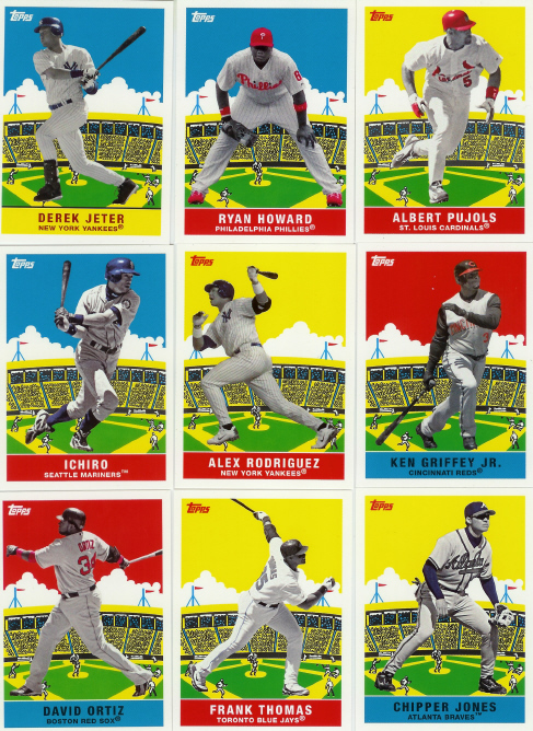 2007 Topps Baseball Flashback Fridays 25 Card Complete Set (1933 DeLong Design) (Includes Pujols, Jeter, Griffey, Alex Rodriguez, Ichiro, Ortiz, Chipper Jones & More)