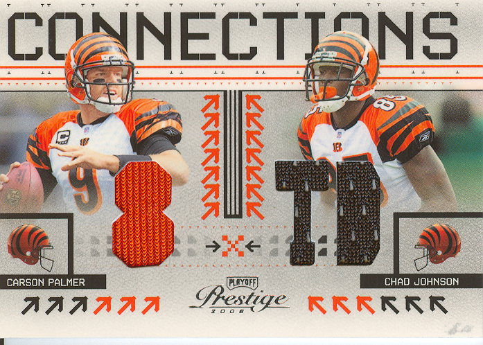 2008 Playoff Prestige Connections Materials #4 Carson Palmer/Chad Johnson