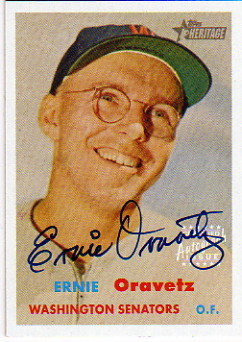 2006 Topps Heritage Real One Autographs #EO Ernie Oravetz