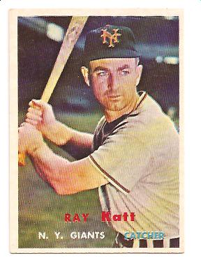 1957 Topps #331 Ray Katt
