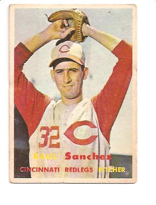 1957 Topps #393 Raul Sanchez RC