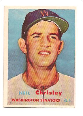 1957 Topps #320 Neil Chrisley RC